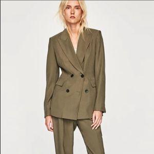 Zara olive blazer size medium